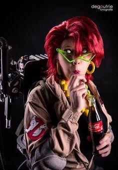 Ghostbusters - Janine Melnitz is drinking a Coke by kathy1602.deviantart.com on @deviantART