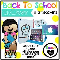 Back to School Giveaway for K-5 Teachers!