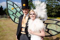 Bespoke feather head dress by Dolecka