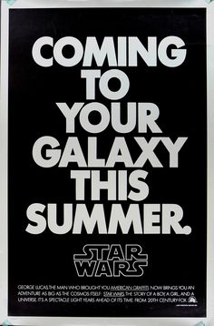 1977 Star Wars Film Poster Ralph