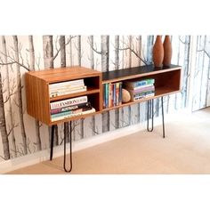 Senkki Furniture - Bookcase / open storage unit... hairpin legs!