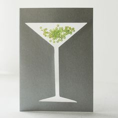 Handmade see-through sequin greetings card. £3.00, via Etsy.