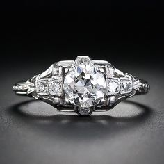 .70 carat Art Deco Diamond Engagement Ring