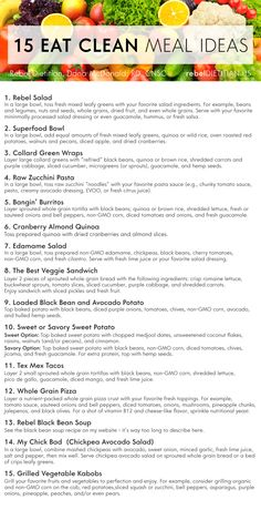 Meal Planning Rebel Dietitian is part of Vegan meal plans - Clean Recipes, Whole Food Recipes, Diet Recipes, Vegetarian Recipes, Healthy Recipes, Vegan Smoothie Recipes, Raw Vegan Smoothie, Candida Recipes, Gastronomia