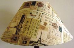 Vintage Paris Decoupage Lampshade by Fattadamamma on Etsy