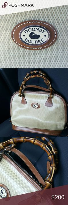 Authentic Dooney and Bourke Panama Zip Satchel Authentic 1999 In used mint condition Strap included Bamboo handles Silver hardware Mix and match with your popular wardrobe favorites 365 Dooney & Bourke Bags Satchels