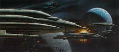 humanoidhistory:Star Wars spaceships in Ralph McQuarrie...