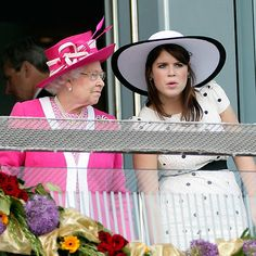 Hats off to grandmothers! Queen Elizabeth and Princess Eugenie hit Epsom racecourse in England back in 2011. <p>Photo: © Getty Images</p>