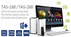 First & Only: QNAP Launches QTS-Android Combo NAS TAS-168/268, Featuring 4K HDMI-out as the Perfect Media Center for Entertainment & Education