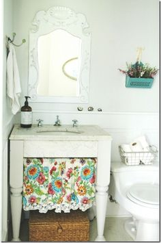 our old colorful bathroom