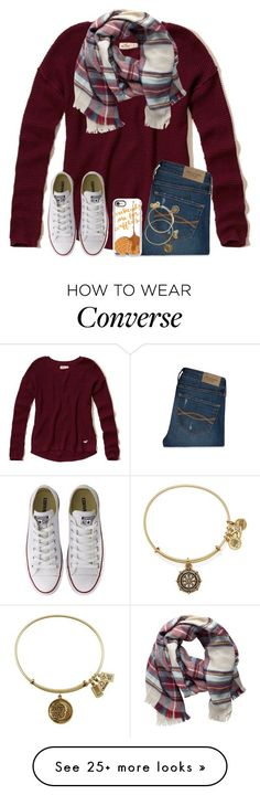 """Waffles Or Pancakes??"" by twaayy on Polyvore featuring Hollister Co., Pieces, Abercrombie & Fitch, Converse, Casetify and Alex and Ani"