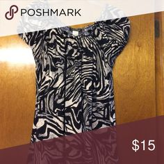 Zebra Style Shirt! Zebra Style Shirt! Super cute and super soft! Great condition! Carol Rose Tops Blouses