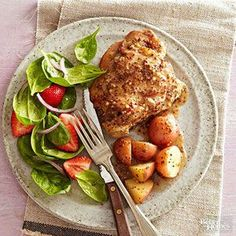 Savor an early taste of Thanksgiving with these sweet, tangy, and savory turkey thighs -- made in the slow cooker for extra ease! Bonus: New potatoes layered at the bottom of the slow cooker soak up flavor for an instant, fuss-free side./ by lacy Slow Cook Turkey, Cooking Turkey, Crock Pot Cooking, Cooking Fish, Healthy Slow Cooker, Slow Cooker Recipes, Cooking Recipes, Skillet Recipes, Cooking Games