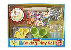 Melissa & Doug Let's Play House Baking Play Set (Pretend Play Kitchen Accessories, 20 Pieces, Great Gift for Girls and Boys - Best for 7 and 8 Year Olds) Baking Set, Baking With Kids, Baking Tools, Play Kitchen Accessories, Pretend Kitchen, Toy Kitchen, Kitchen Stuff, Kitchen Gadgets, Kitchen Dining