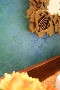 fishscale tile done with stencils