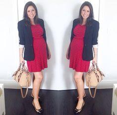 Vestido vermelho + blazer