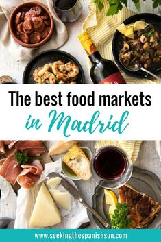 Madrid's best food markets. Try some Spanish food and shop where the locals shop. Travel guide from Seeking the Spanish Sun blog www.seekingthespanishsun.com