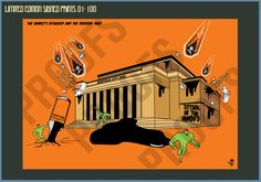 Attack of the Hendos City Hall - Limited Edition Print – Goo Design