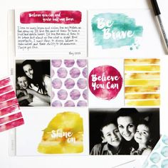 Download these free inspirational watercolor Project Life cards.