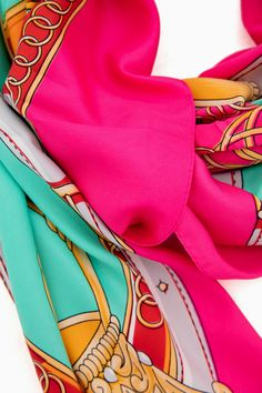Susette Scarf in Turquoise by Pomander Place - Tnuck