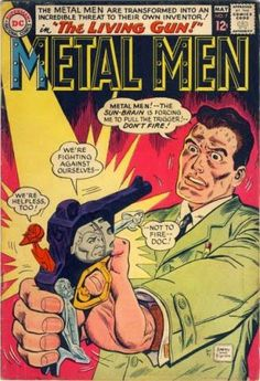 """The Living Gun"" in Metal Men #7 cover  by Ross Andru and Mike Esposito"