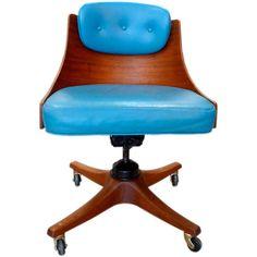 Edward Wormley for Dunbar Swiveling Desk Chair