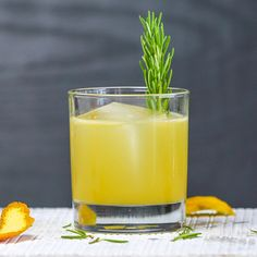 Bloody Sherry 2 oz Gin .5 oz Blood orange oleo saccharum .5 oz Lemon juice .5 oz Oloroso sherry   Garnish: 1 Rosemary sprig