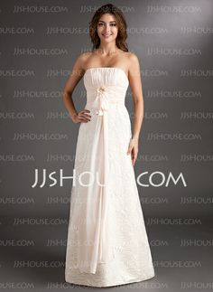 b0a4a6d215ad88 Empire Strapless Sweep Train Chiffon Lace Bridesmaid Dress With Ruffle