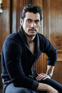 David Gandy rocking a sweater.