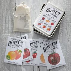 Happy Cat Farms Heirloom Tomatoes Seed Collection