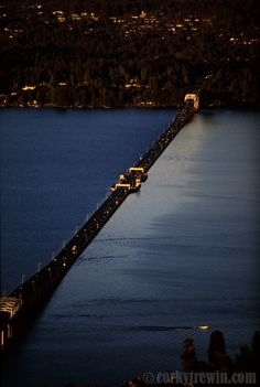 The 520 Evergreen Point Floating Bridge connects Seattle and Bellevue. Photo by Corky Trewin (the detail in this picture is amazing ... please do click for a peek)