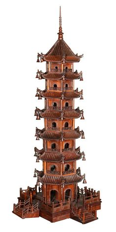 Model of a chinese pagoda