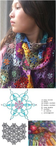 Crochet Flower Scarf - 101 Free Crochet Patterns - Full Instructions for Beginners | 101 Crochet - Part 5
