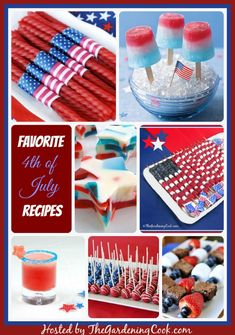 Celebrate in a patriotic way this 4th of July.  Try one of these neat festive recipes http://thegardeningcook.com/more-fourth-of-july-recipes/