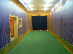 Batting cage for the home. Needs to be a little bigger though. More ...