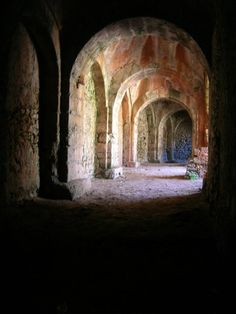 Pylos, Greece. The cellars at the 13th century castle.