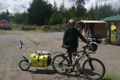 Lapierre - Jean, from France, on day 2 of his tour from Quito to Ushuaia