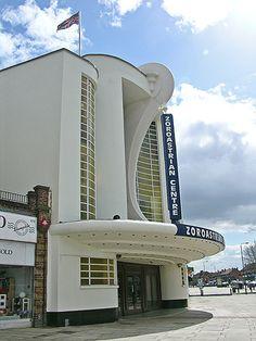 Art Déco Grosvenor Cinema built in 1935, Harrow, Middlesex, London by Metropol 21 (Deidra Brocké Wallace).