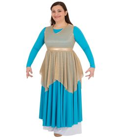 6a714ac2590e Body Wrappers 682 Adult Pleated Metallic Tunic Worship Dance, Praise Dance,  Body Wrappers,