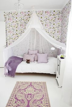 Purple & white bedroom