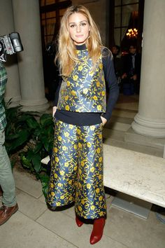 Pin for Later: Le Meilleur de la Fashion Week de New York Se Trouvait au Premier Rang Olivia Palermo Au défilé Carolina Herrera.