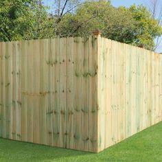 w pine dogear fence panel