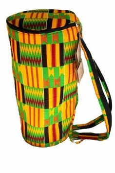 This Africa Heartwood Project djembe bag is hand-made in Ghana by the wives, sisters, and mothers of the drum carvers. #djembe