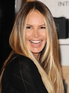 Growing older looks good on Elle Macpherson. In a revealing new interview, the (yes, seriously) model dished on aging — and admitted she feels more secure in her own skin now than she d… Sophisticated Hairstyles, Casual Hairstyles, Fancy Hairstyles, Hairstyles For Round Faces, Fringe Hairstyles, Wedding Hairstyles, Elle Macpherson, Brown Blonde Hair, Haircuts For Long Hair