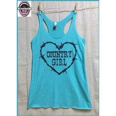 Country Girl at Heart Ladies Cut Racerback Raw Edge Lightweight Tank... ($20) ❤ liked on Polyvore featuring tops, green, tanks, women's clothing, blue polka dot shirt, racerback tank tops, vintage tank top, green polka dot shirt and racer back tank