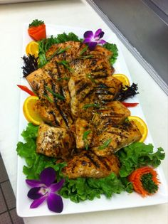 Honey Ginger Salmon from Saint Germain Catering
