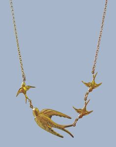Follow The Leader Bird Necklace — Eclectic Eccentricity Vintage Jewellery