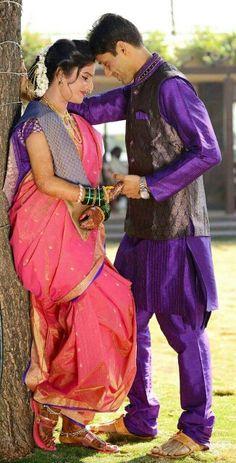36 New Ideas Wedding Couple Poses Marathi Indian Wedding Poses, Pre Wedding Poses, Bridal Poses, Pre Wedding Photoshoot, Wedding Couples, Indian Wedding Couple Photography, Couple Photography Poses, Bridal Photography, Couple Photoshoot Poses