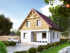 Oliwka 2 projekt domu - Jesteśmy AUTOREM - DOMY w Stylu Garage Studio, Favorite Paint Colors, Bungalow House Plans, Design Case, Home Fashion, Home Projects, Tiny House, Home Improvement, Sweet Home