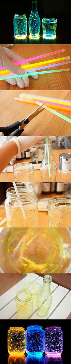 Mason jar crafts are infinite. Mason jars are usually used for decorators, wedding gifts, gardening ideas, storage and other creative crafts. Here are some Awesome DIY Mason Jar Crafts & Projects that can help you reuse old Mason Jars for decoration Fun Crafts, Diy And Crafts, Crafts For Kids, Kids Diy, Arts And Crafts For Teens, Stick Crafts, Creative Crafts, Art Diy, Creation Deco